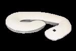 Poduszka dla kobiet w ciąży kremowo szara Poofi